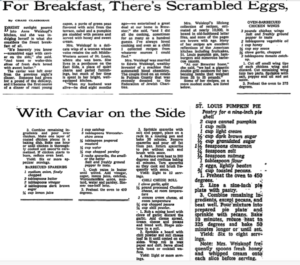 The original recipe from the New York Times, October 24,1968.