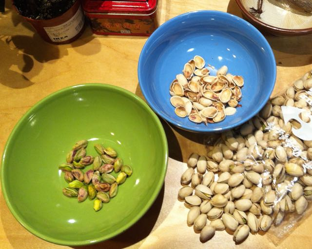 pistachios are wonderful with all kinds of pasta